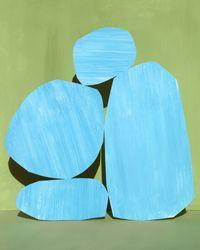 blue mountain by Ina Jang contemporary artwork print