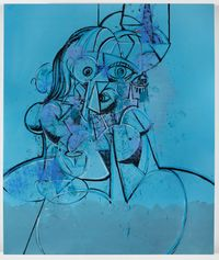 The Blues Musician by George Condo contemporary artwork painting