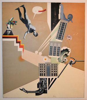 Fernand Leger contro King Kong (le meravigliose avventure di F. L.) by Sergio Sarri contemporary artwork painting