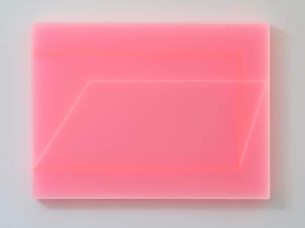 Kāryn Taylor, Umbra (2019). Cast acrylic, 60 x 60 x 6 cm. Courtesy Gallery 9, Sydney.