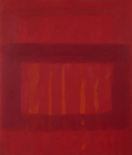 Cool Series #48, Striated Red by Perle Fine contemporary artwork