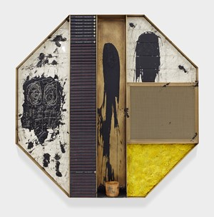 Untitled Microphone Sculpture by Rashid Johnson contemporary artwork