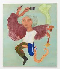 Quetzalcoatl Ramírez by Cecilia Vicuña contemporary artwork painting