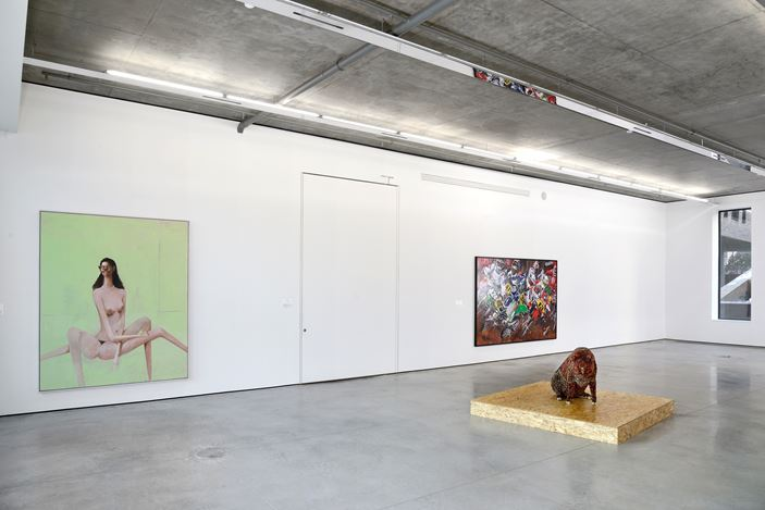 Exhibition view: Group Exhibition,Mutated Reality, Gary Tatintsian Gallery,Moscow(27 November2015–3 March 2016). Courtesy Gary Tatintsian Gallery, Moscow.
