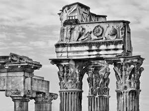 Imperial Fora. Temple of Saturn and Temple of Vespasian and Titus. Rome, 2010 by Pino Musi contemporary artwork