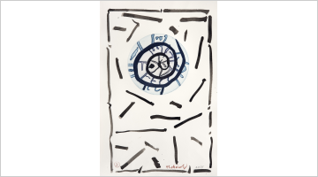 Contemporary art exhibition, Pierre Alechinsky, Spires et Résumé at Galerie Lelong & Co. Paris, 13 Rue de Téhéran, Paris, France