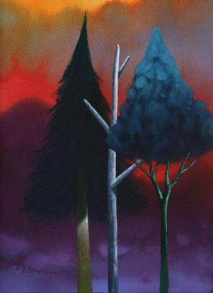 Trees by Nicolas Party contemporary artwork