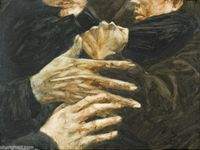 A Study about Painting Hands 001 by Zhou Zixi contemporary artwork painting