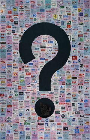 Question A Brick Wall by Wang Qingsong contemporary artwork