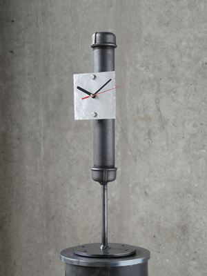 Pipe-bomb Clock (small) by Atelier Van Lieshout contemporary artwork