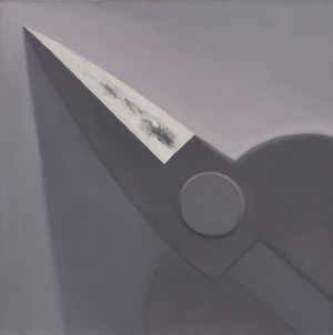1/4 Scissors in Charcoal Grey by Mao Xuhui contemporary artwork