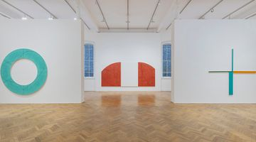 Contemporary art exhibition, Robert Mangold, A Survey 1981–2008 at Pace Gallery, London