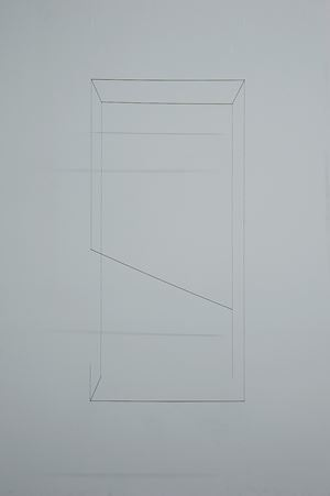 Line Sculpture (cuboid) 32 by Jong Oh contemporary artwork
