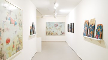Contemporary art exhibition, Roger Mortimer & Sam Mitchell, Sourcery at Bartley & Company Art, Wellington, New Zealand
