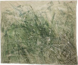 Leaves of Grass No.4 - Side A 草葉集之四 前 by Wang Gongyi contemporary artwork