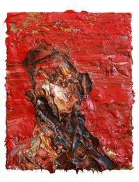 Self-Portrait in Red by Antony Micallef contemporary artwork painting