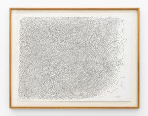 Desenho manco com alguma dificuldade para seguir adiante (observado por peixes) by Milton Machado contemporary artwork