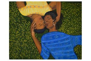 Laying in the Grass II by Sola Olulode contemporary artwork
