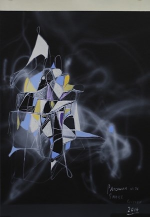 Patchwork with Smoke by Shane Cotton contemporary artwork
