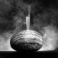 Watermelon with Knife by Robert Mapplethorpe contemporary artwork photography