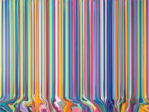 Viridian and Acra Magenta by Ian Davenport contemporary artwork