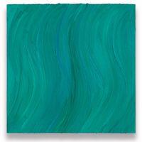 Untitled (Caribbean blue / Zinc green deep) by Jason Martin contemporary artwork painting