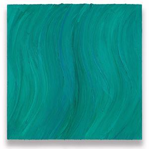 Untitled (Caribbean blue / Zinc green deep) by Jason Martin contemporary artwork