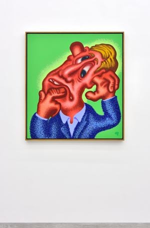 He Forgot Something by Peter Saul contemporary artwork