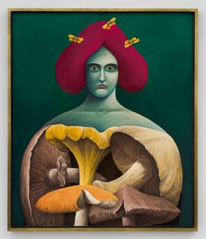 Portrait with Mushrooms by Nicolas Party contemporary artwork
