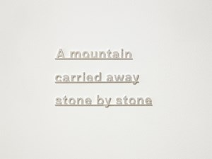 Ideas (A mountain carried away stone by stone) by Katie Paterson contemporary artwork