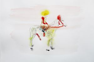 Jockey by Karen Densham contemporary artwork