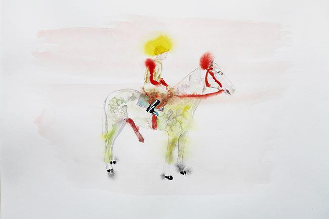 Jockey by Karen Densham contemporary artwork