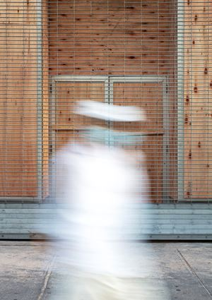 Man in White Suit, Fourteenth Street, NYC, 3 June 2020 by Sean Hemmerle contemporary artwork