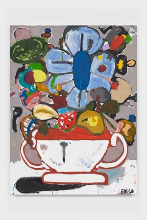 BAP Flower 1 (Periwinkle) by Eddie Martinez contemporary artwork