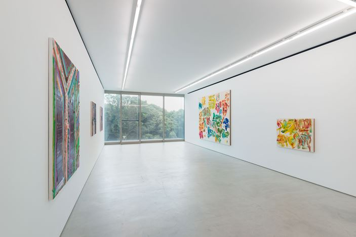 Exhibition view: Group Exhibition,5,471 miles, Blum & Poe, Tokyo (21 July–8 August 2020). Courtesy the artists and Blum & Poe, Los Angeles/New York/Tokyo. Photo: SAIKI.