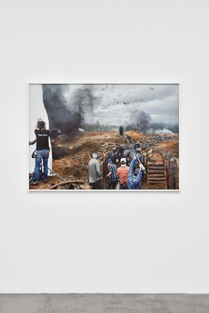 Fragment I: Battle of Corinth, Film Set (Free State of Jones), Bush, Louisiana, from The Silent General by An-My Lê contemporary artwork