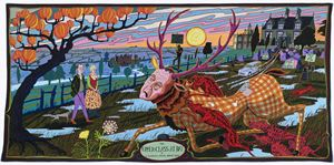 The Upper Class at Bay by Grayson Perry contemporary artwork
