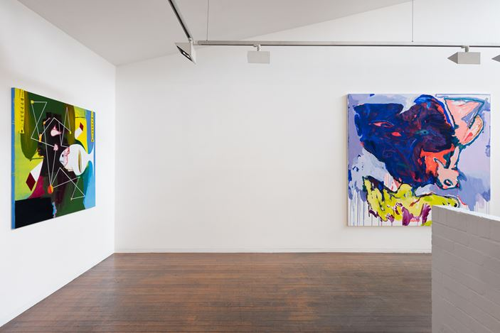 installation view, Tom Polo, Gareth Sansom, Jenny Watson: A Painting Show, Roslyn Oxley9 Gallery, Sydney (3 – 19 December 2020). photo: Luis Power