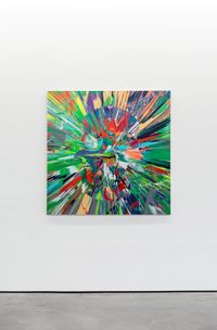 Beautiful Muruga paranoia intense painting (with extra inner beauty) by Damien Hirst contemporary artwork painting