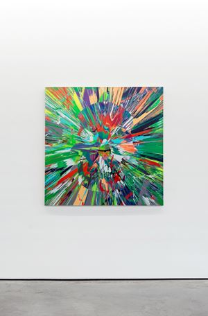 Beautiful Muruga paranoia intense painting (with extra inner beauty) by Damien Hirst contemporary artwork