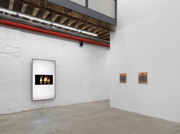Exhibition view: Uri Aran, The Fastest Boy In The World,Andrew Kreps Gallery,Cortlandt Alley, New York (4 June–2 July 2021). Courtesy the Artist and Andrew Kreps Gallery, New York. Photo: Dan Bradica.