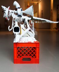 White Discharge (Built-up Objects) #42 by Teppei Kaneuji contemporary artwork mixed media