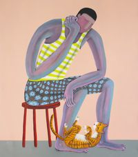 The Thinker by Kitti Narod contemporary artwork painting