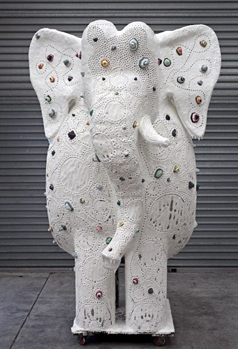 He of 109 Names and one tusk by Rohan Wealleans contemporary artwork