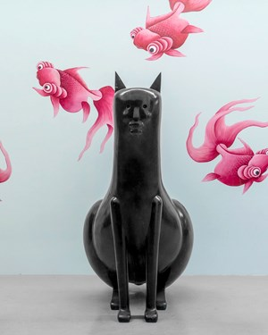 Large Cat by Nicolas Party contemporary artwork
