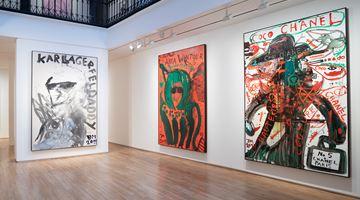 Contemporary art exhibition, Jonathan Meese, Meese Haute Couture (La Haute Couture de l'Avenir s'appelle Sommeil) at Templon, Paris