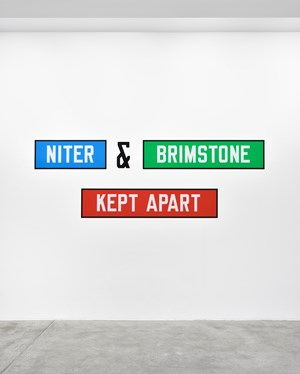 NITER & BRIMSTONE KEPT APART by Lawrence Weiner contemporary artwork