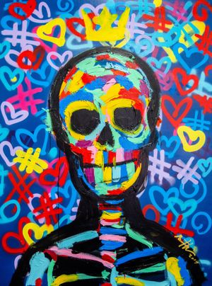 Street Skull by Bradley Theodore contemporary artwork