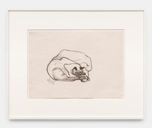 Siamese Cats by Alice Neel contemporary artwork works on paper, drawing