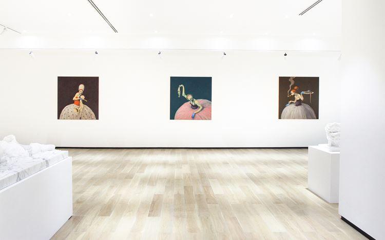 Exhibition view:Duo Solo Exhibition of Michael Kvium & Christian Lemmerz, TangContemporary Art, Bangkok (17 December 2020–31 January 2021).Courtesy Tang Contemporary Art.
